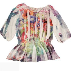 🦋 3/$30 Amore Couture Floral Sheer Blouse